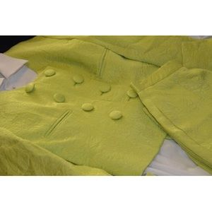 Vintage 1990's Christian Dior Lime Green Suit